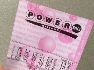 My soon-to-be winning Powerball ticket.