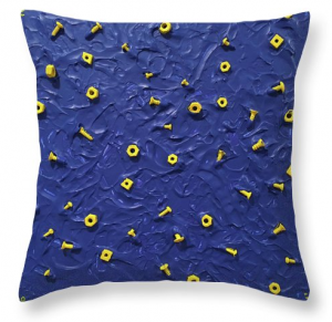 Nuts and Bolts - one of my 'stick' paintings looks really cool in the form of a pillow!