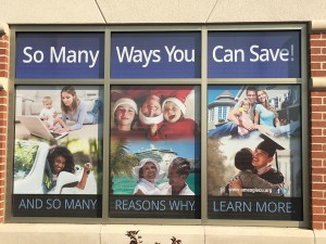 These window banners can be seen at a variety of American Eagle locations all over the metro St. Louis area.