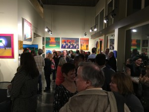Just a few of the more than 200 friends, family members and work associates who attended opening night festivities at Blood On The Walls at 1900 Park.