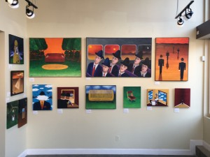 A few of the 40 paintings I had on display at 1900 Park