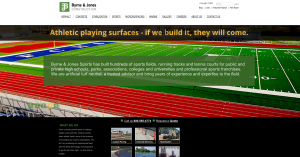A partial look at the home page of Byrne & Jones Construction.