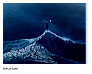 A conductor standing on top of a wave conducting the elements? Impossible. Yes.