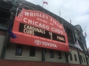 Our visit to Wrigley Field was extremely enjoyable.