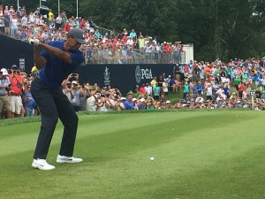 Any time you can get this close to Tiger Woods, it's a good day!