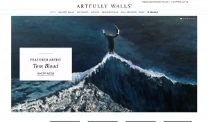 For the next few days, visitors to Artfullywalls.com will see this upon arriving at the site.